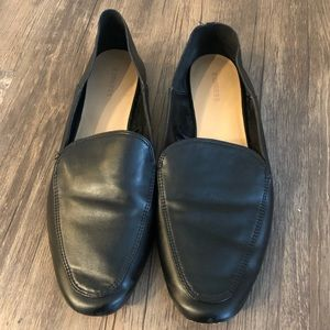 Express black loafers size 8